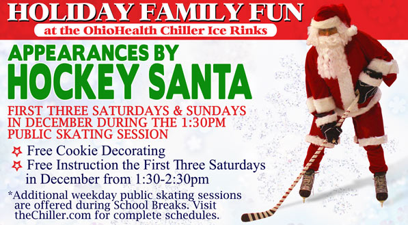 Skate With Hockey Santa